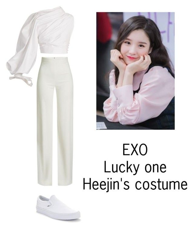 """Heejin's costume for Lucky one"" by pantsulord on Polyvore featuring Brandon Maxwell, Jacquemus and Vans"