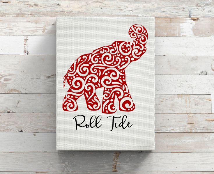 University of Alabama Football-Paisley Elephant-Roll Tide-Crimson Tide-Iron…