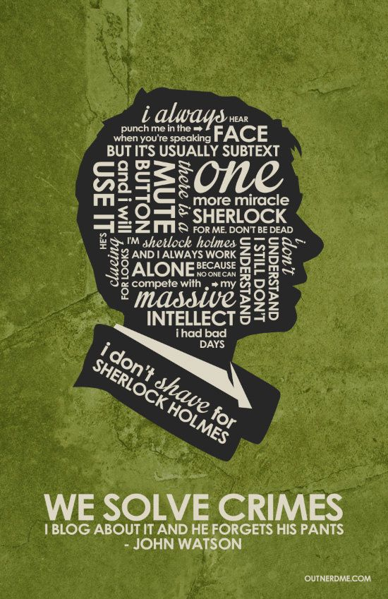 Watson Inspired Quote Poster by OutNerdMe on Etsy