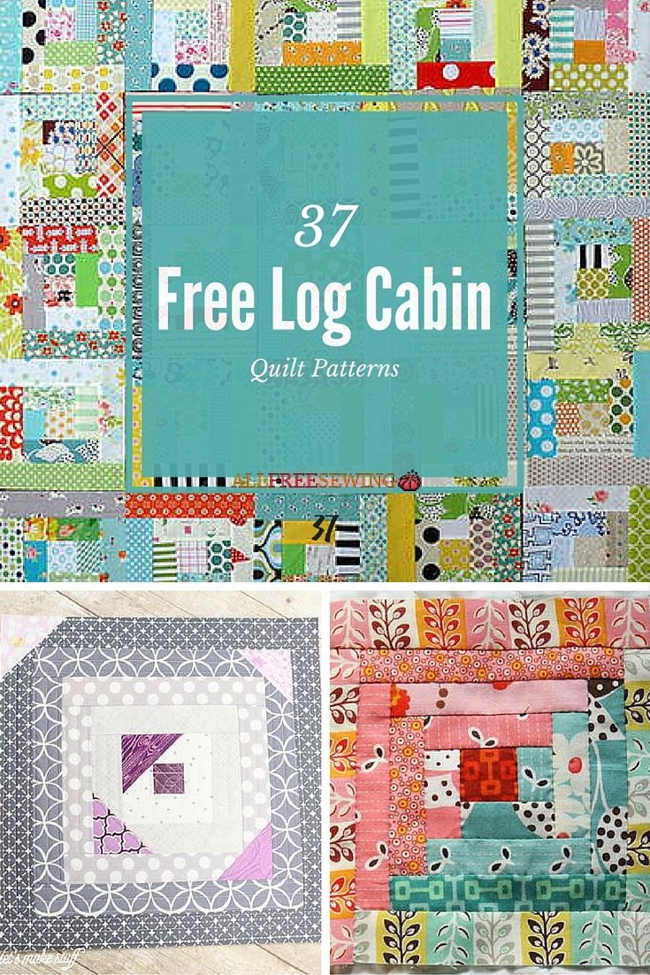 37 Free Log Cabin Quilt Patterns | We can't get enough of the log cabin quilt!