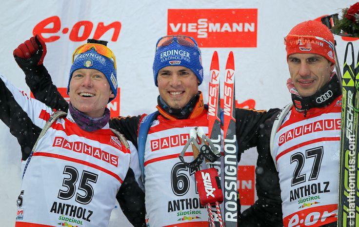 Antholz, sprint, 17.01.2014 1. Simon Schempp & Lukas Hofer, 3. Arnd Peiffer