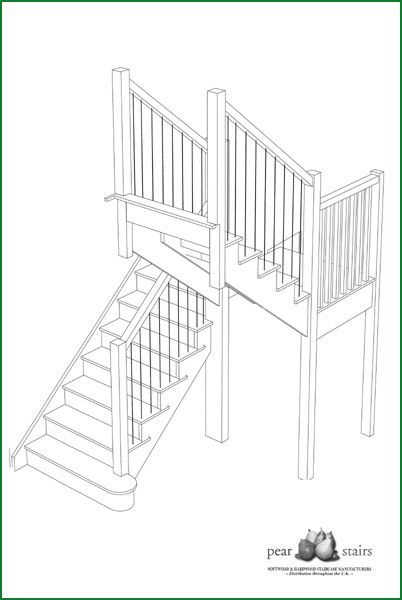 Isle of Tiree - Ash Cut String Staircase Design