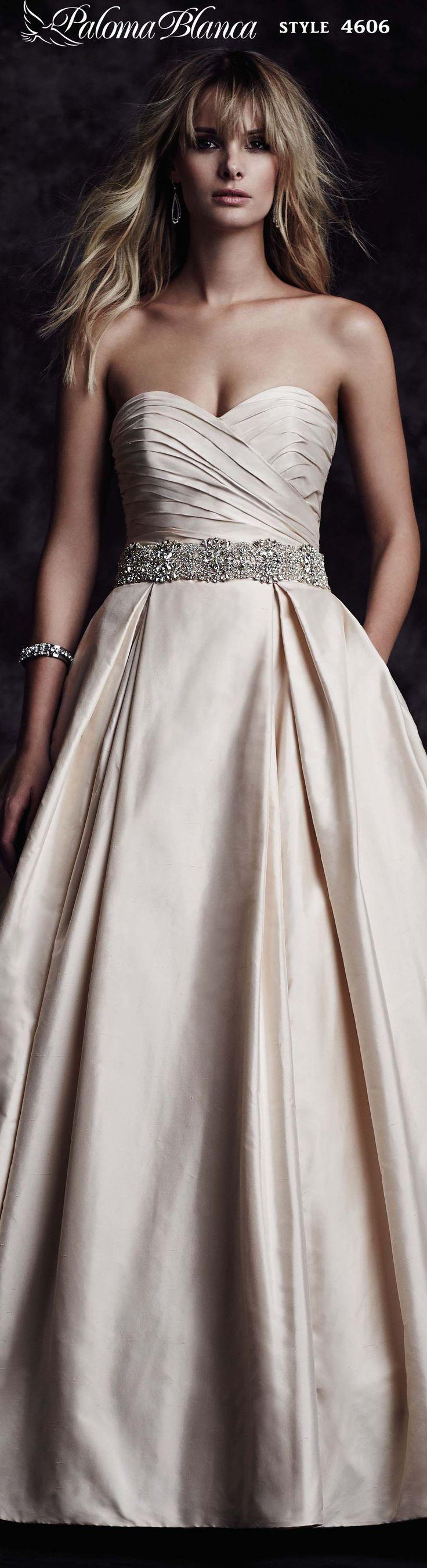 Style 4606- Paloma Blanca Fall 2015 #ballgown #weddingdress #bride