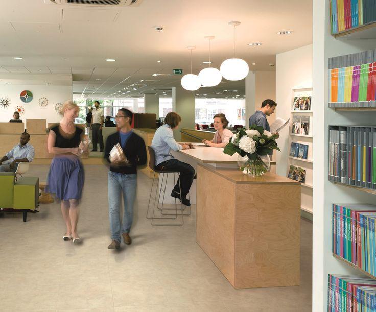 Fusion Flooring 1076 Ivory Limestone - great Office design