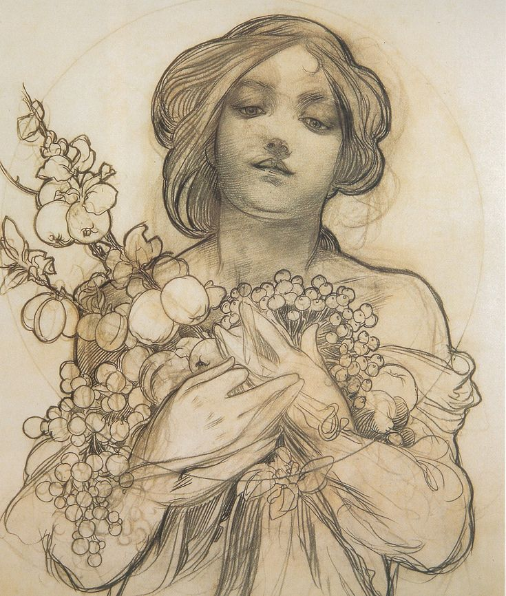 """alphonse mucha _______________________ """"LOOKING FORWARD TO A DAY WHEN ALL WILL LIKE THIS"""" :)"""