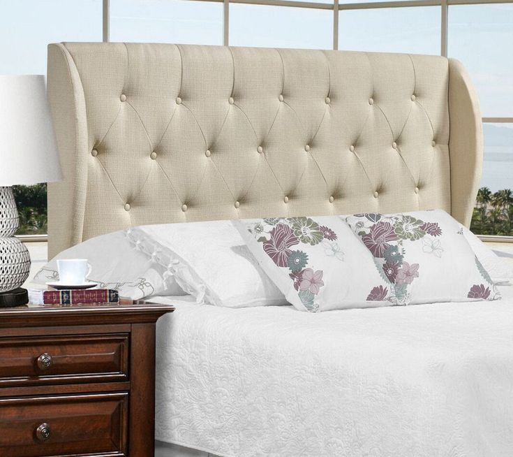 Monroe Queen/Full Headboard (Beige)... #furniture #homedecor #interiordesign #design #decor #home #living #office #family #entertainment #luxury #affordable #sale #discount #freeshipping #canada #toronto #usa #america #fashion #design #bedroom #comfort #happy #style #rest #relax