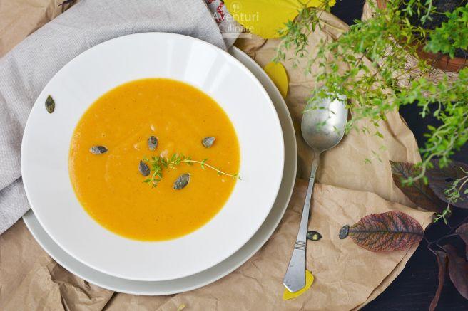 Supa crema de dovleac cu scortisoara