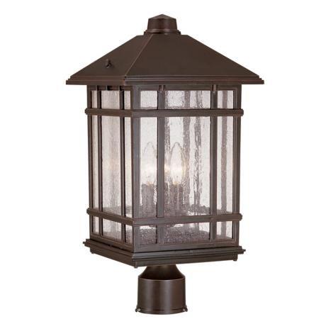 J Du J Sierra Craftsman 18 Quot High Outdoor Post Mount Light