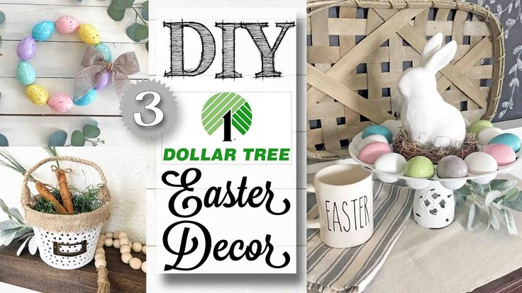 DIY Dollar Tree Easter Decor 3 PROJECTS! YouTube