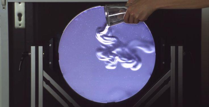 VIDÉO : La strioscopie permet d'observer les déplacements d'air produits par la…