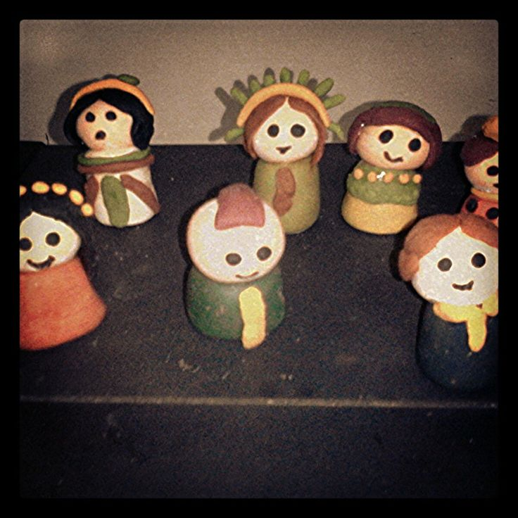 Miniature Japan Dolls. #miniatureclay #FlourClay #PolymerClay