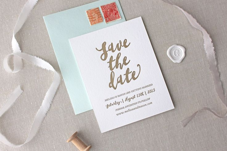 Malibu Letterpress Save the Date- Letterpress Save the Date by CHATHAMandCARON on Etsy https://www.etsy.com/listing/225987254/malibu-letterpress-save-the-date