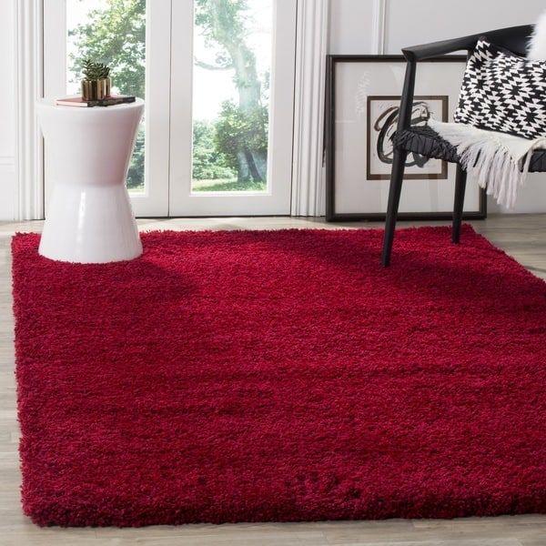 safavieh california cozy plush red shag rug 5u00273 x