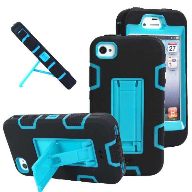 iPhone 4s case, iPhone 4 case, MagicSky Robot Series Hybrid Armored Case with Ki 531927309353 | eBay