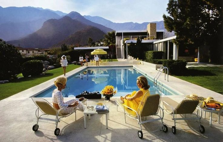 Poolside Glamour (Slim Aarons Estate Edition) | From a unique collection of color photography at https://www.1stdibs.com/art/photography/color-photography/