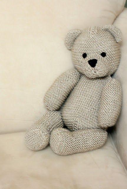 Free knitting pattern for teddy bear   Teddy Bear Knitting Patterns at http://intheloopknitting.com/free-teddy-bear-knitting-patterns/