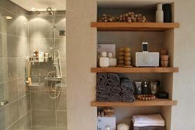 25 beste idee n over landelijke badkamers op pinterest rustieke badkamers weckpot - Badkamermeubels oude stijl ...