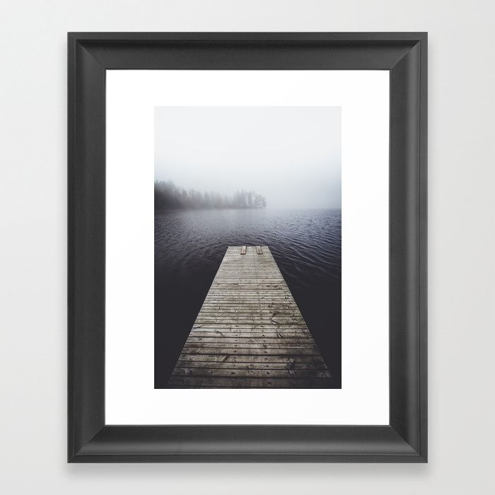 Fading into the mist Framed Art Print by happymelvin