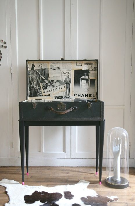 17 best images about valises vintage on pinterest sewing - Table console ancienne ...