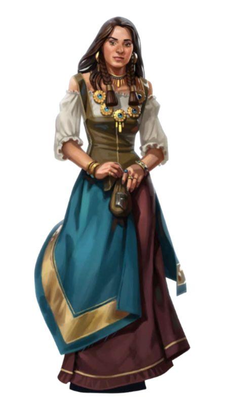 Female Human Lesser Noble Aristocrat - Pathfinder PFRPG DND D&D d20 fantasy