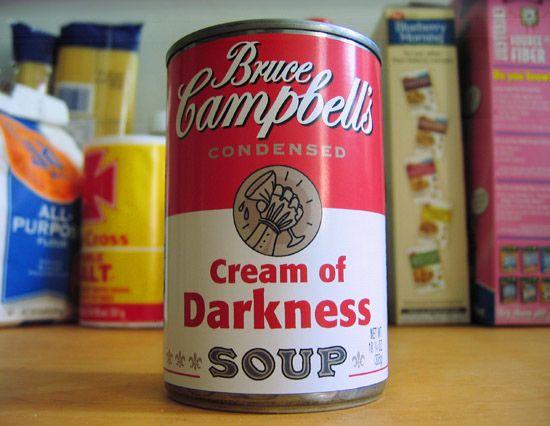 Bruce Campbell Soup Labels!