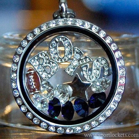 Dallas Cowboys football locket necklace. Origami Owl