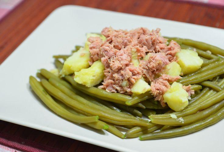 Insalata di fagiolini, patate e tonno (3 blocchi)