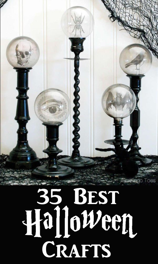 35 Halloween Decoration Ideas and Crafts Crafts Pinterest - make halloween decoration