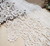 Белое молоко шелковый вышитые кружевной ткани отделка украшения для одежды, отделка кружевом скрапбукинг-SC