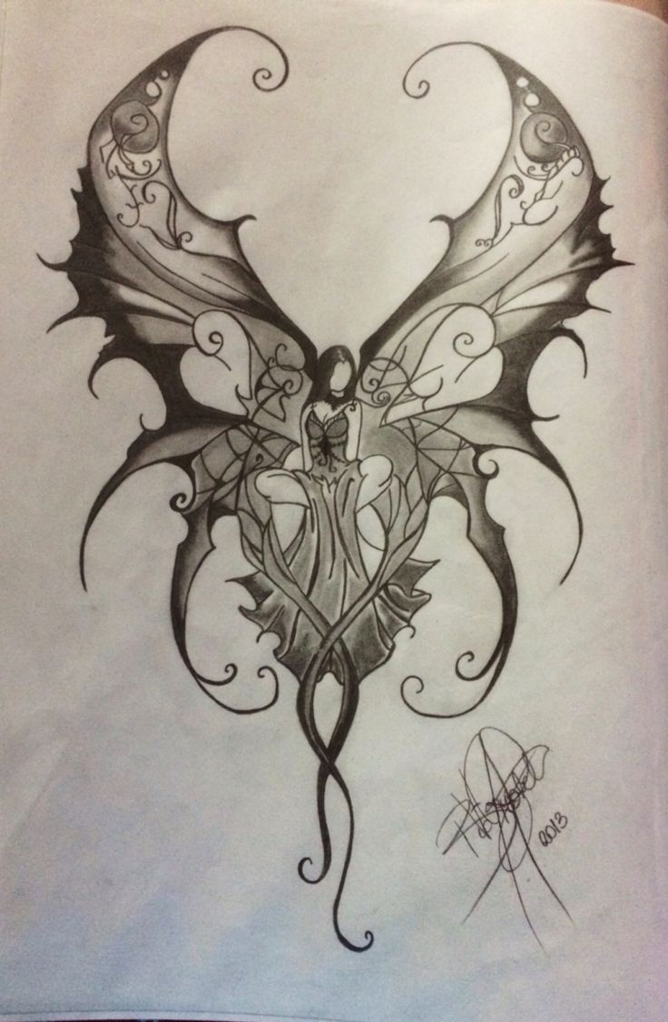 Borboleta Fada Desenho Tattoo Beanicoletto  Borboletas
