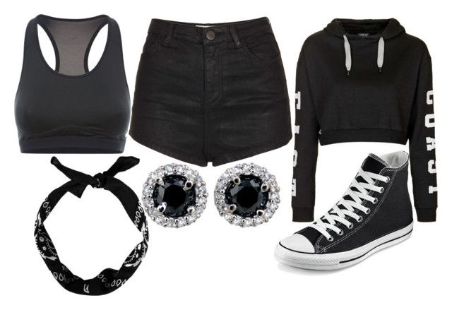 """Daughter of Hades Training"" by elli-jane-xox ❤ liked on Polyvore featuring mode, Topshop, Converse en NIKE"