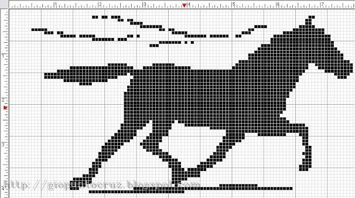 horse x-stitch