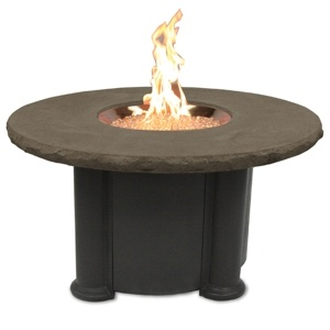 Add A Cozy Glow To Your Outdoor Space With The Outdoor Greatroom Colonial Fire  Pit Table With Round Top In Mocha: A Robust, Fiberglass Tabletop With ...