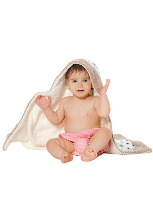 Sun of a Beach Baby Towel: Hooded baby towel for extra cuteness! Ultra soft towel on one side, soft printed poplin on the other.