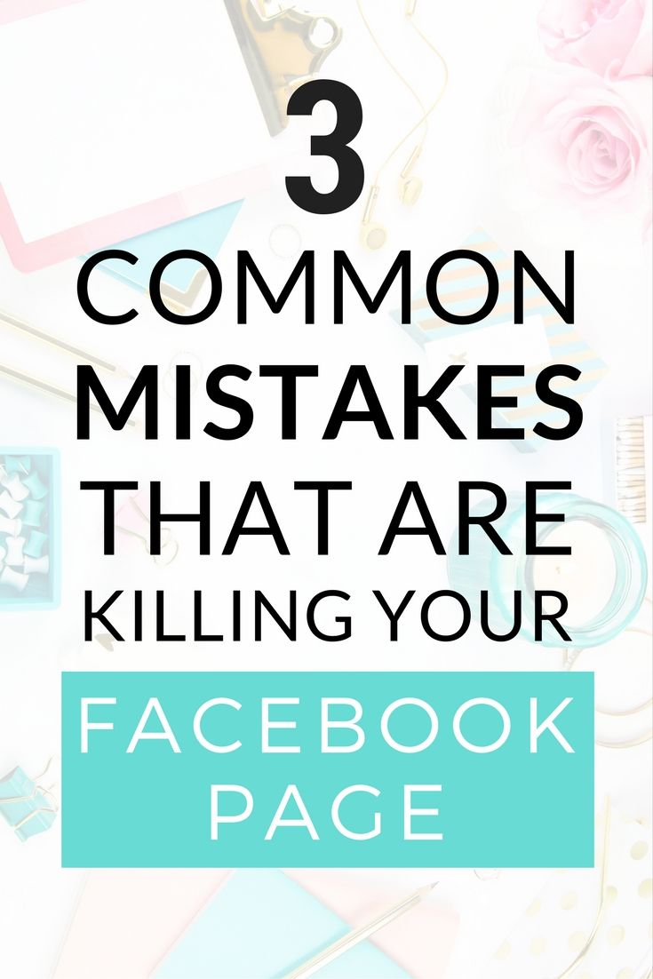 Are you making these 3 mistakes with your Facebook page that are killing your reach? Take the free mini-course (affiliate link) and find out now! Social media tips for bloggers. Grow your Facebook page likes with these quick tips and tricks for beginners!