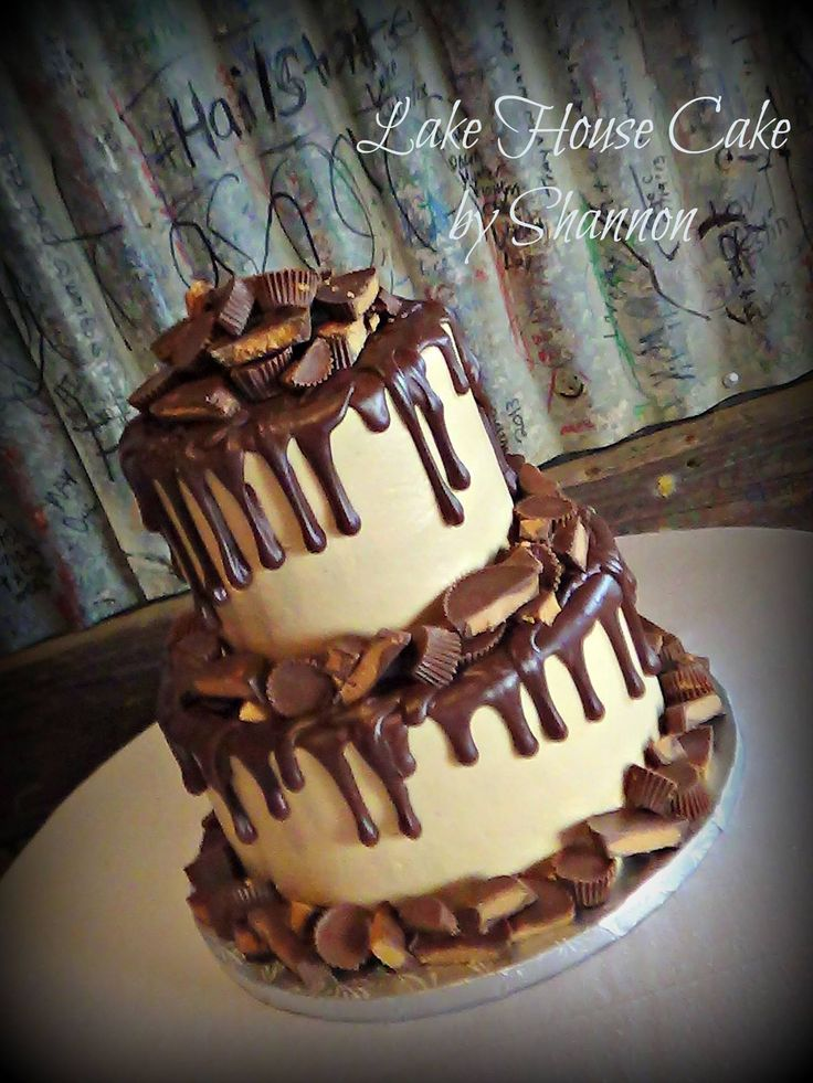 Peanut Butter Cup Cake, Peanut Butter Explosion Cake, Reeces Cake, Reeses Cake, Chocolate , Peanut Butter, Buttercream, Lake House Cake by Shannon, Panama City Beach, FL
