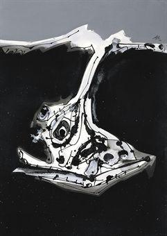 Le chien de Goya, cuadro de Antonio Saura en la subasta de arte contemporáneo de Christie's | Arte Spain