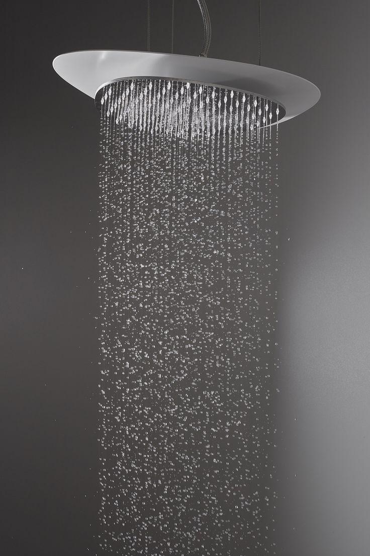 Cloud showerhead - Meneghello Paolelli Associati design #fimacarlofrattini #fmacf #cloud #bathroom #wellness #design #ceilingmounted #white #luxury #water