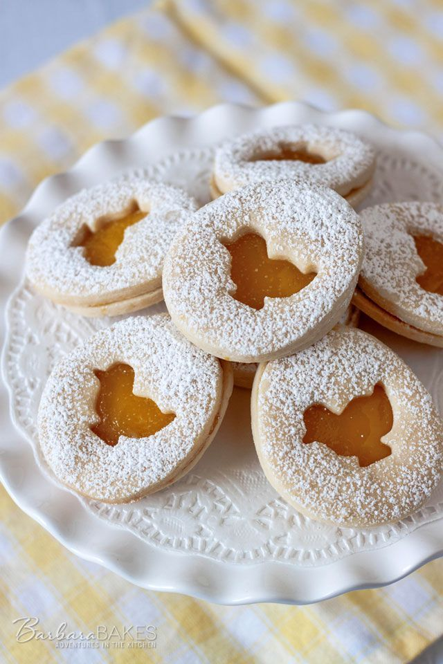 ... Easter Shortbread Sandwich Cookies with a Tart Lemon Curd Filling