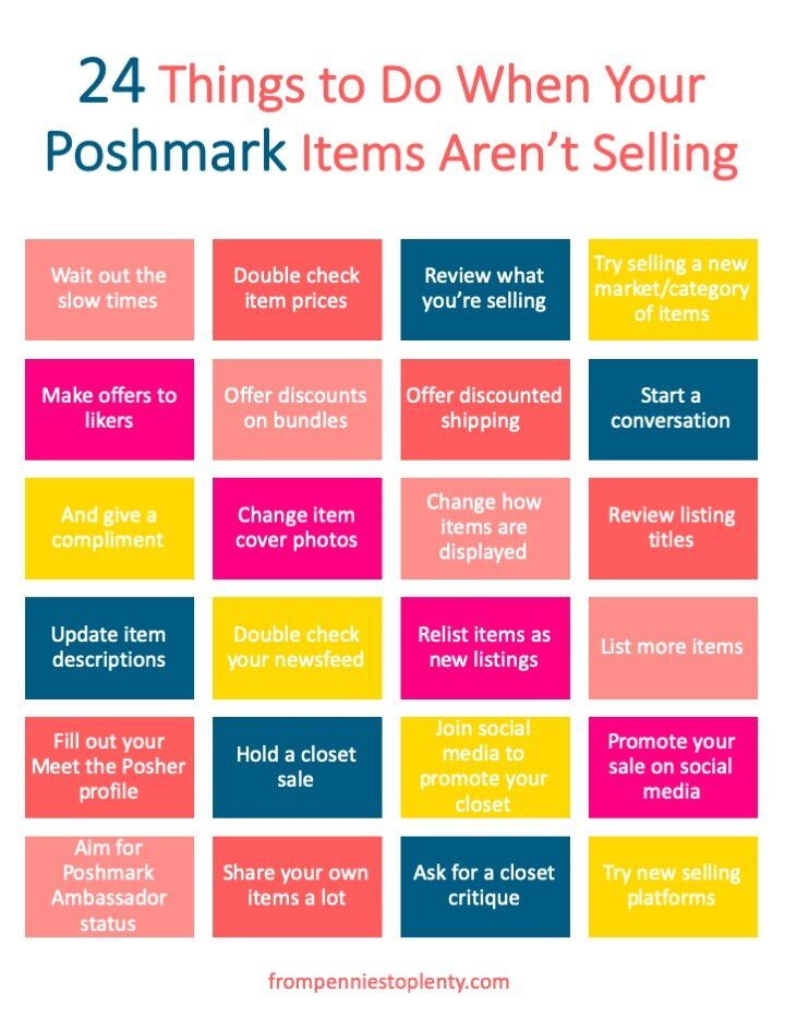 24 Things to Do When Your Poshmark Items Aren't Selling