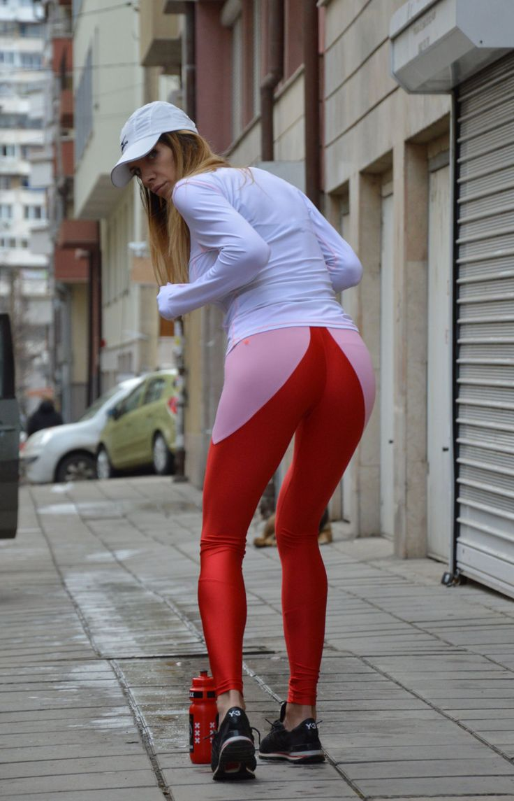 Extra Long Red Leggings, Women's Workout Pants , Oversize  Gym Leggings, Tights Yoga Pants by Silvisport21