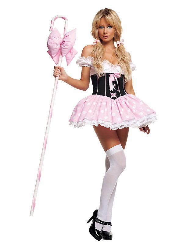 Sexy Pink Little Bo Peep costume // #costume #halloween