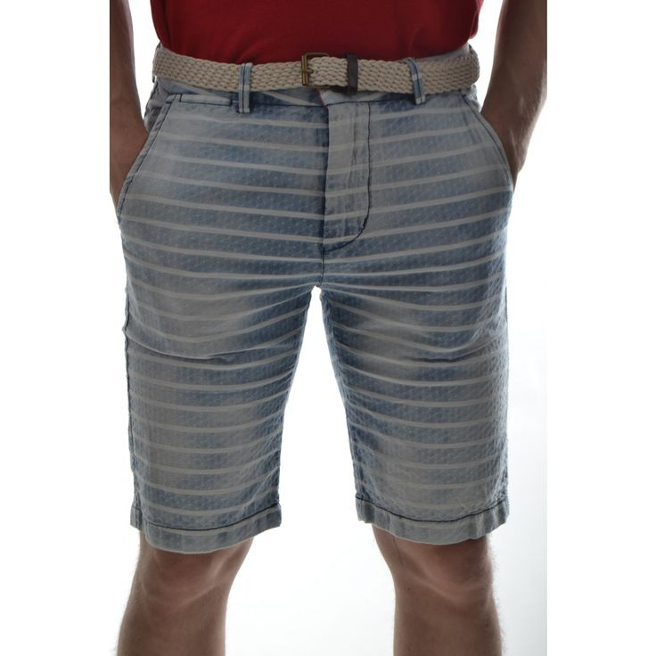 Pánske krátke rifľové nohavice pásik.-