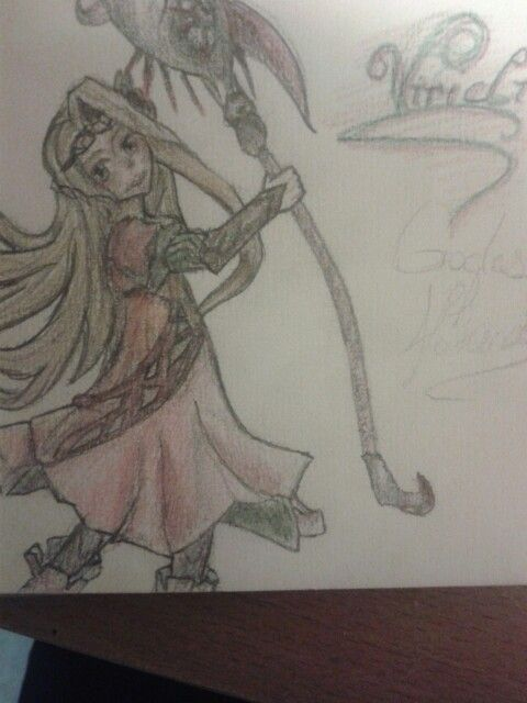 The beautiful Viridi of Kid Icarus. I'm rather proud of this one.