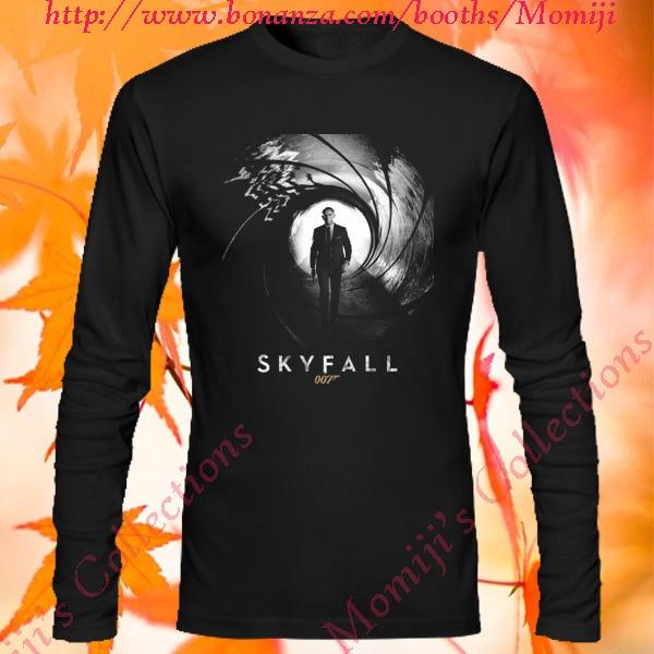 Daniel Craig James Bond Skyfall Agent 007 Film Poster Long Tee T-Shirt