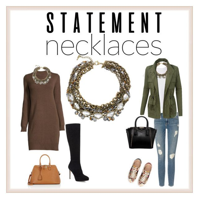 Dress up any outfit with a great statement necklace.   Statement necklaces by cricri123 on Polyvore featuring polyvore, fashion, style, Hanes, LE3NO, Frame Denim, Jimmy Choo, Gucci, Maison Margiela, Chloe + Isabel, clothing and statementnecklaces