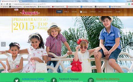 Site Bonnemini - Roupas Infantis e Infanto Juvenil