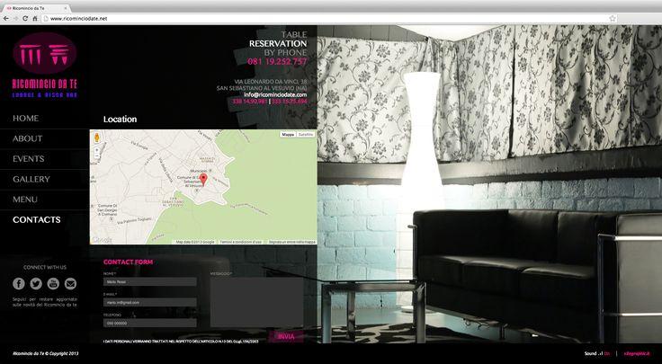 Ricomincio Da Te Lounge & Disco Bar  Via Leonardo Da Vinci, 38 San Sebastiano al Vesuvio - Napoli  Web site www.ricominciodate.net © 2013 XILOGRAPHIC