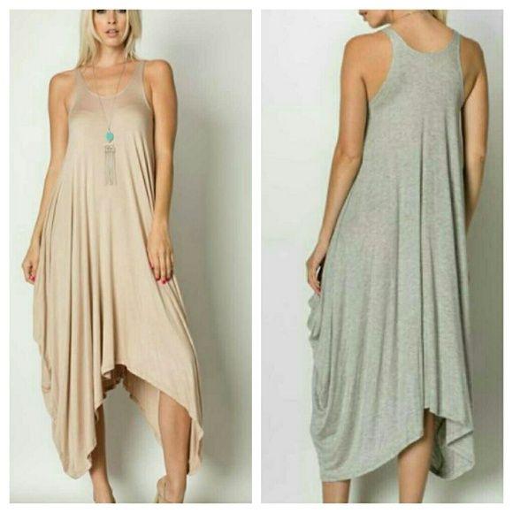 Sleeveless Harlem dress (taupe) Taupe Harlem dress 95% Rayon 5% Spandex Dresses