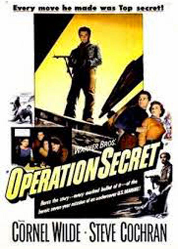 cine sinopsis y peliculas para descargar : Operation Secret (1952) Bélica  Segunda Guerra Mundial (1939-1945). El Teniente Coronel Peter Ortiz, un oficial americano que fue también miembro activo de la Resistencia francesa, es ......